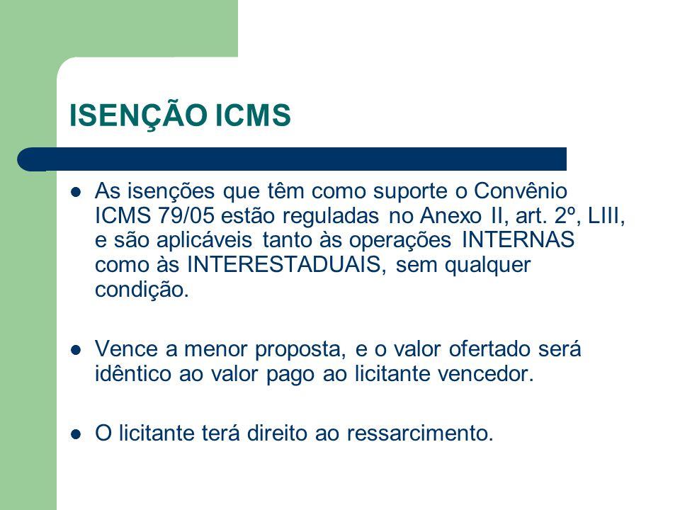 ISENÇÃO ICMS