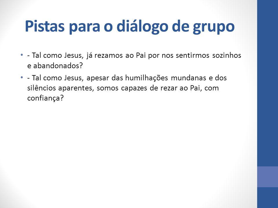 Pistas para o diálogo de grupo