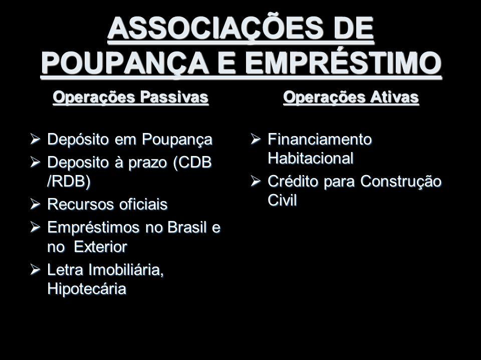 ASSOCIAÇÕES DE POUPANÇA E EMPRÉSTIMO