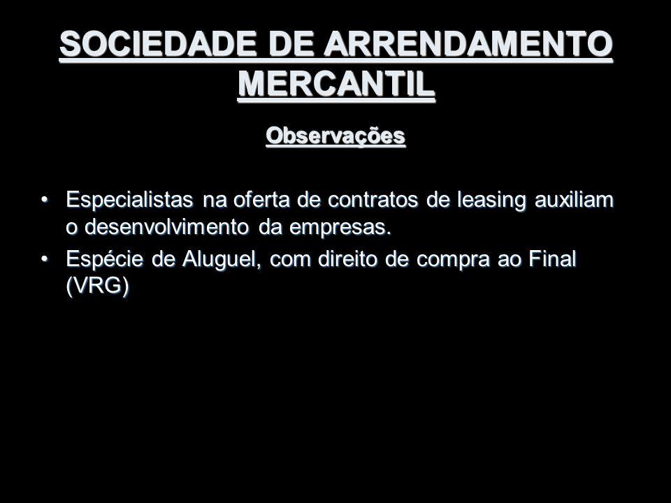 SOCIEDADE DE ARRENDAMENTO MERCANTIL