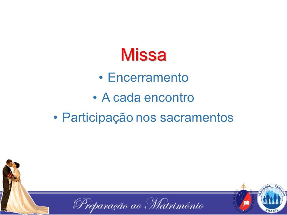 Participação nos sacramentos
