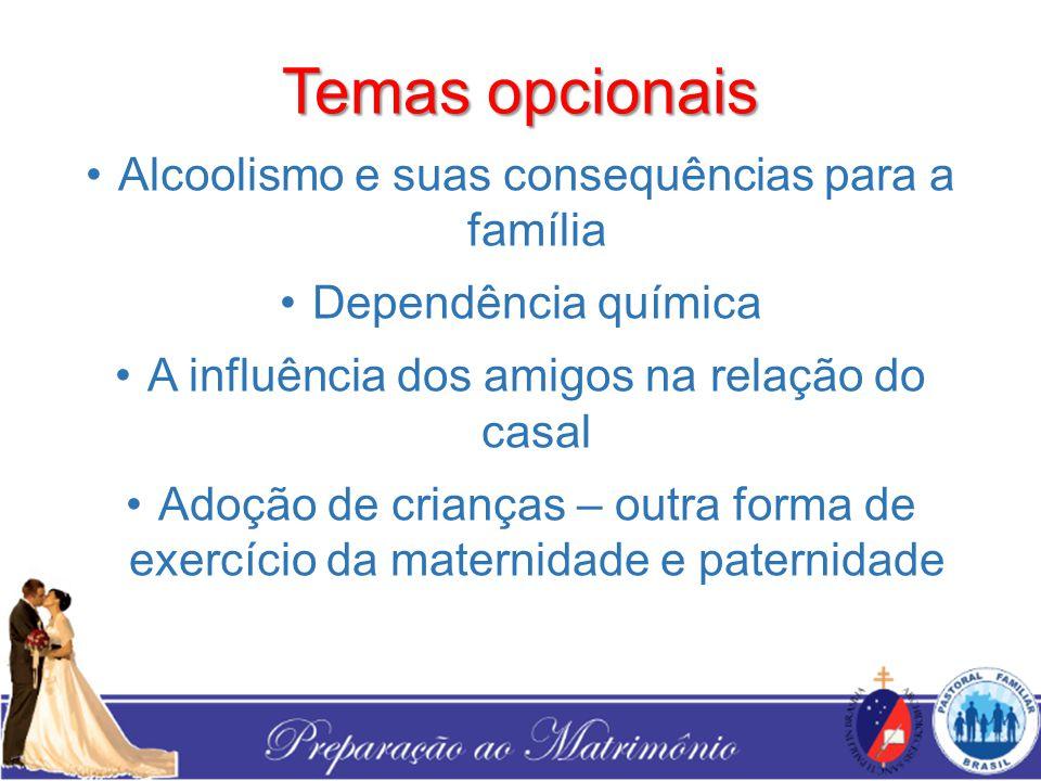 Temas opcionais Alcoolismo e suas consequências para a família