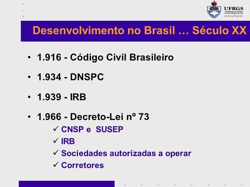 Desenvolvimento no Brasil … Século XX