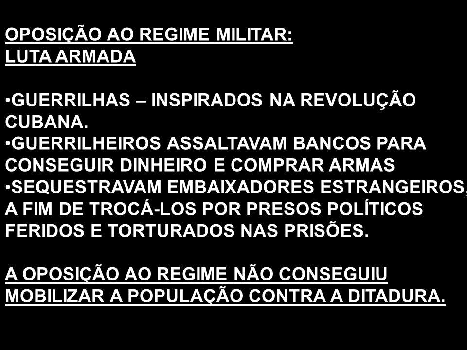 OPOSIÇÃO AO REGIME MILITAR: