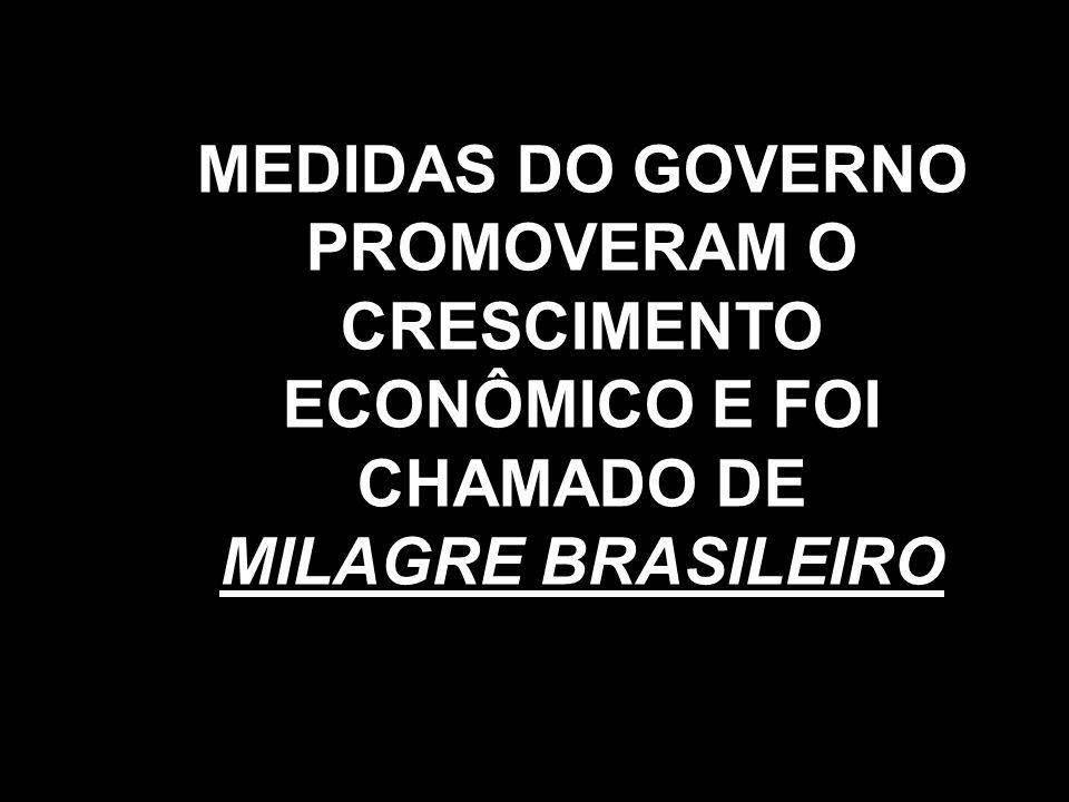 MEDIDAS DO GOVERNO PROMOVERAM O CRESCIMENTO ECONÔMICO E FOI CHAMADO DE