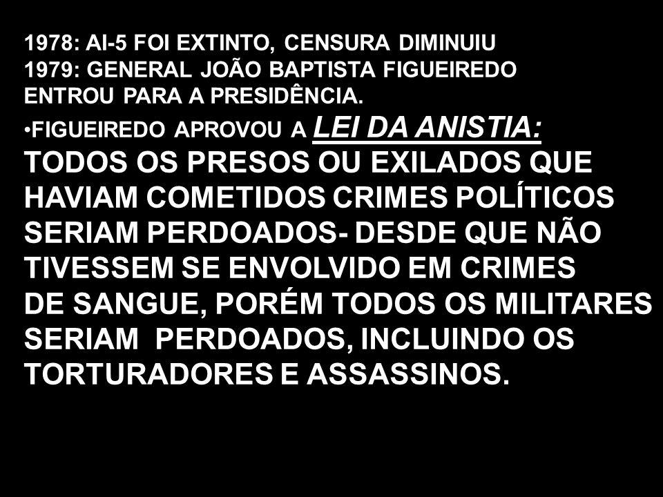 TODOS OS PRESOS OU EXILADOS QUE HAVIAM COMETIDOS CRIMES POLÍTICOS