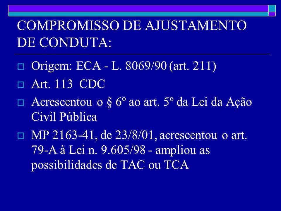 COMPROMISSO DE AJUSTAMENTO DE CONDUTA: