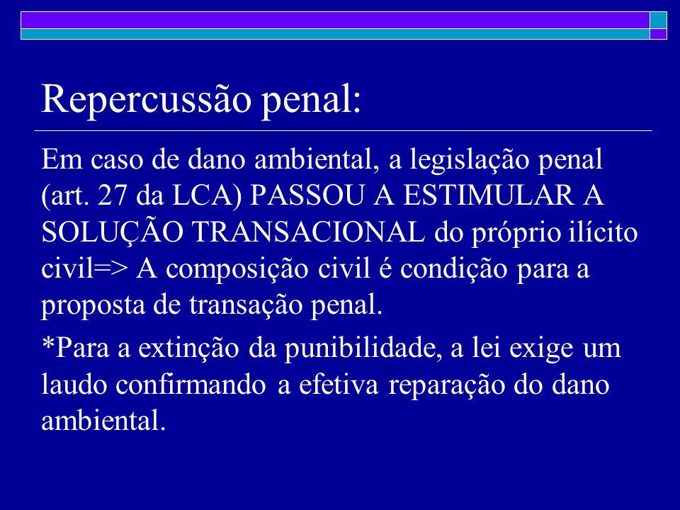 Repercussão penal: