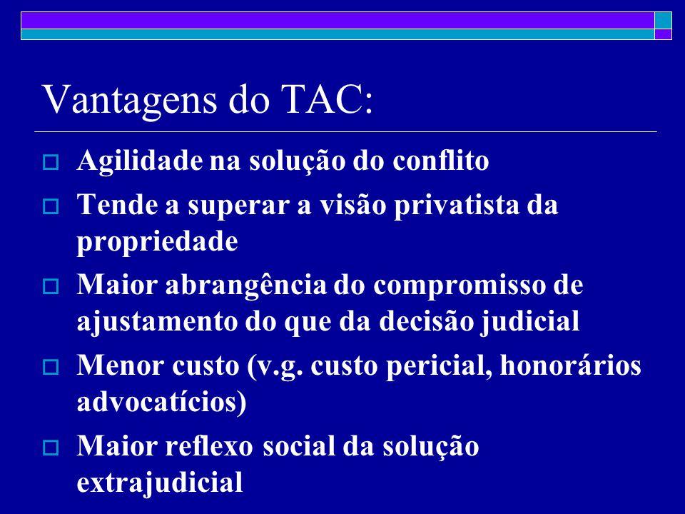 Vantagens do TAC: Agilidade na solução do conflito