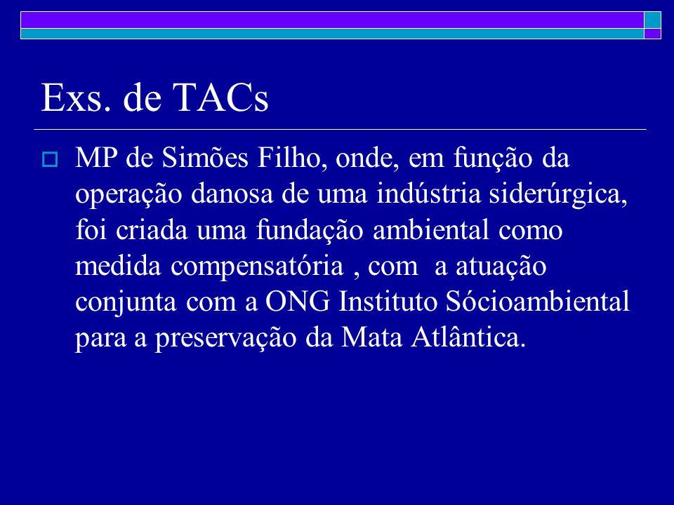 Exs. de TACs