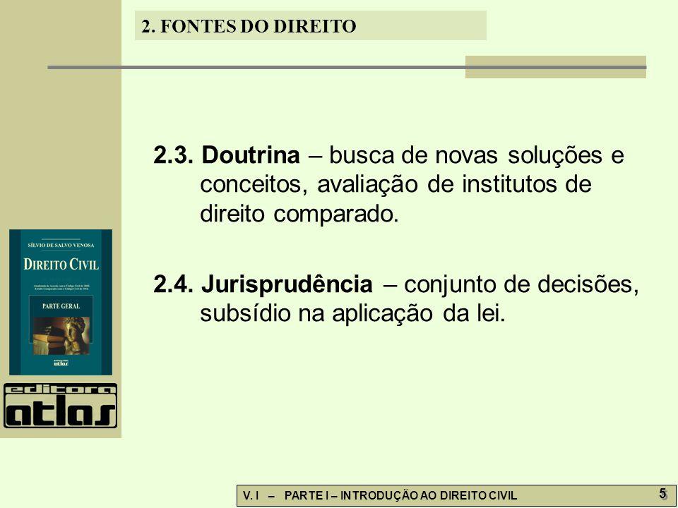2.3. Doutrina – busca de novas soluções e conceitos, avaliação de institutos de direito comparado.