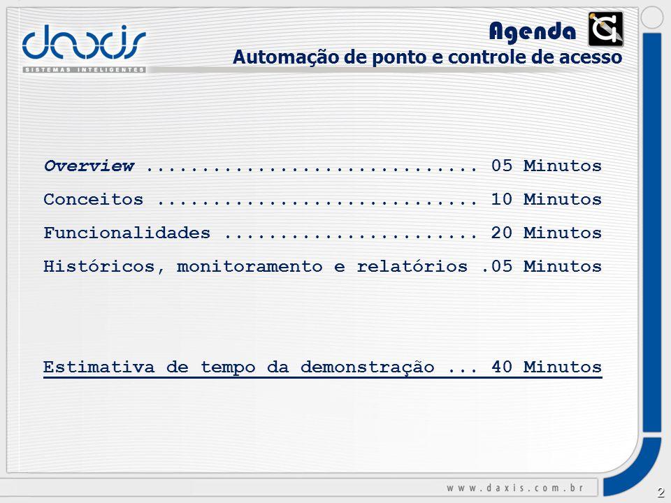 Agenda Automação de ponto e controle de acesso