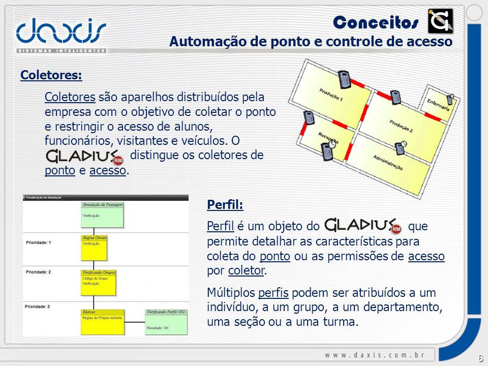 Conceitos xx Automação de ponto e controle de acesso Coletores: