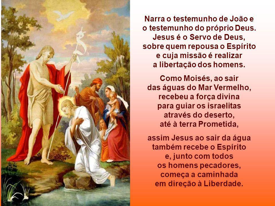 Narra o testemunho de João e o testemunho do próprio Deus.
