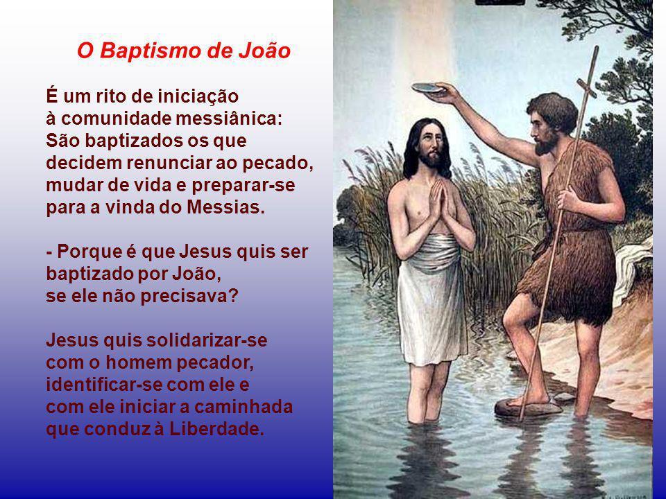 O Baptismo de João É um rito de iniciação à comunidade messiânica: