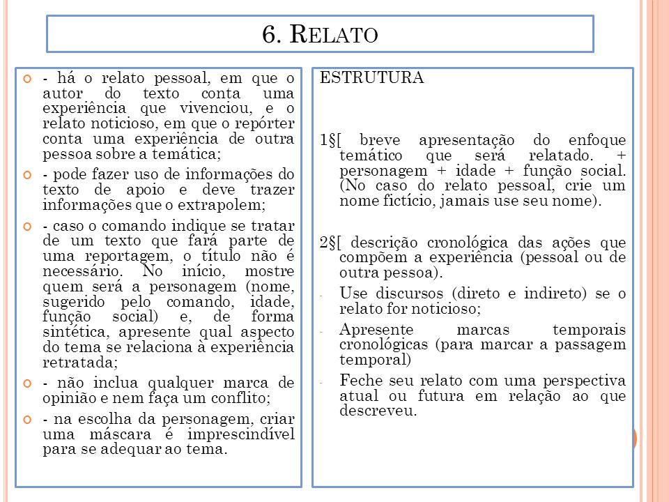 6. Relato