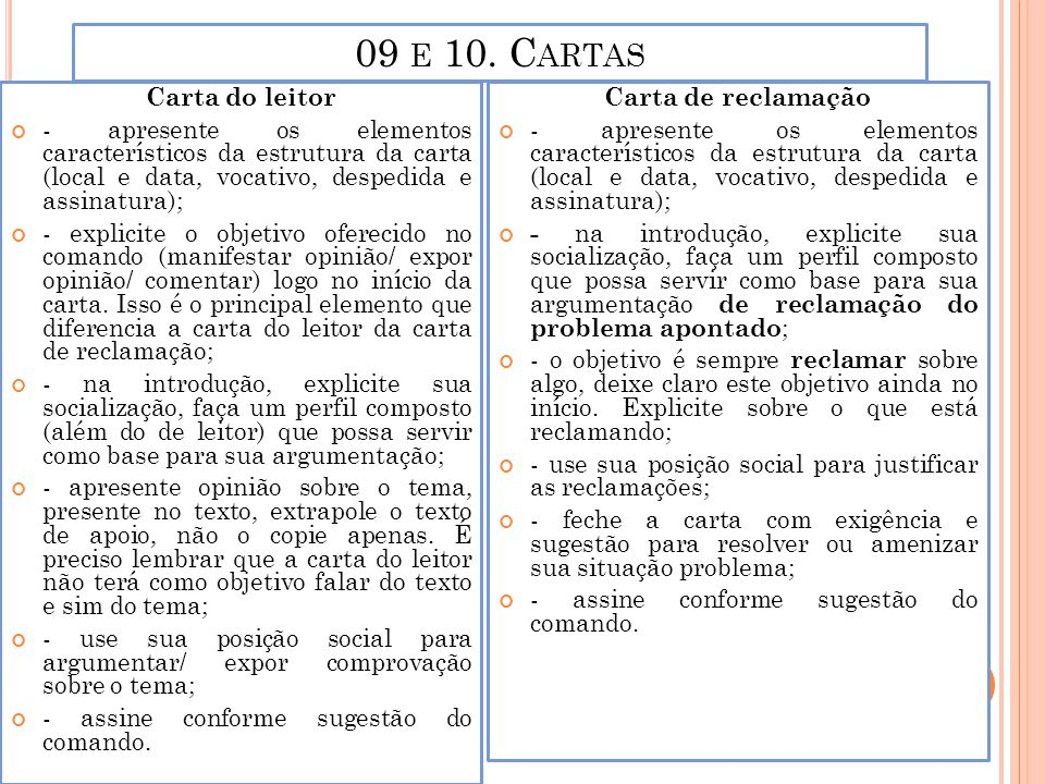 09 e 10. Cartas Carta do leitor