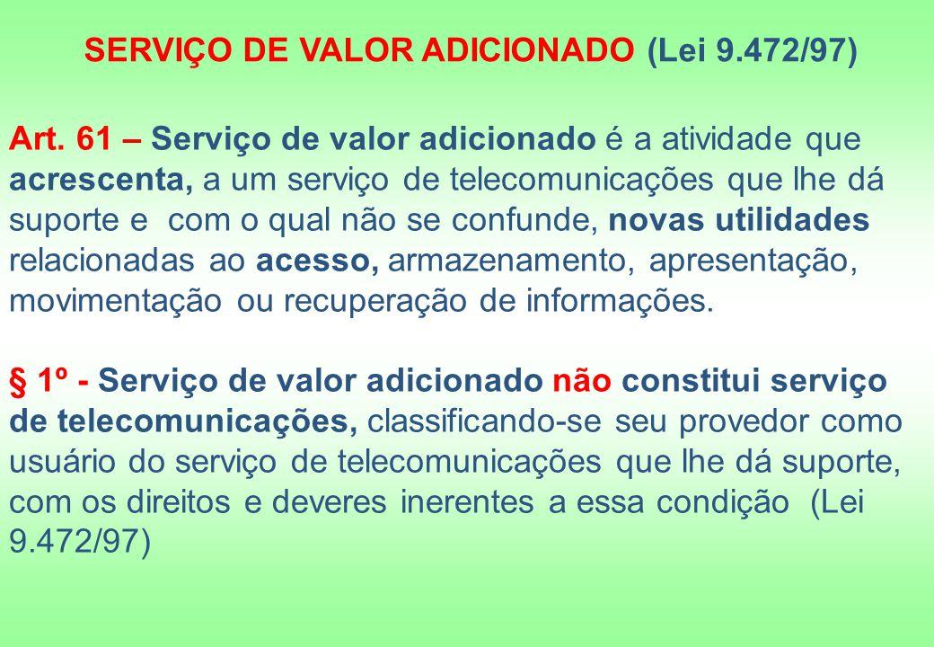 SERVIÇO DE VALOR ADICIONADO (Lei 9.472/97)