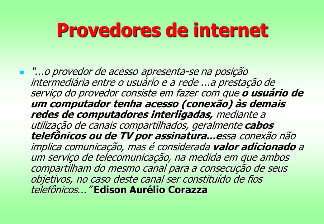 Provedores de internet