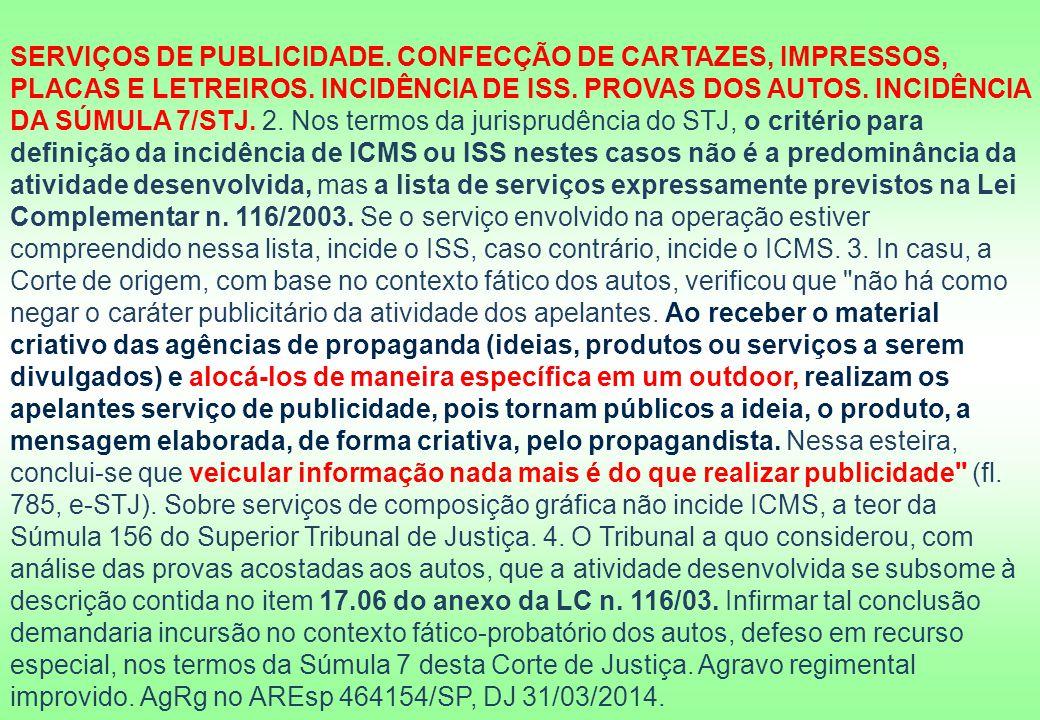 SERVIÇOS DE PUBLICIDADE
