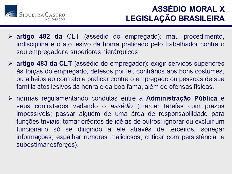 ASSÉDIO MORAL X LEGISLAÇÃO BRASILEIRA