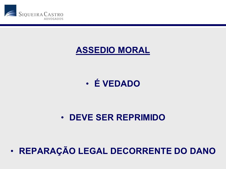REPARAÇÃO LEGAL DECORRENTE DO DANO
