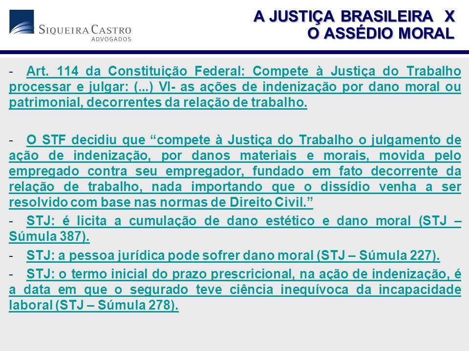 A JUSTIÇA BRASILEIRA X O ASSÉDIO MORAL