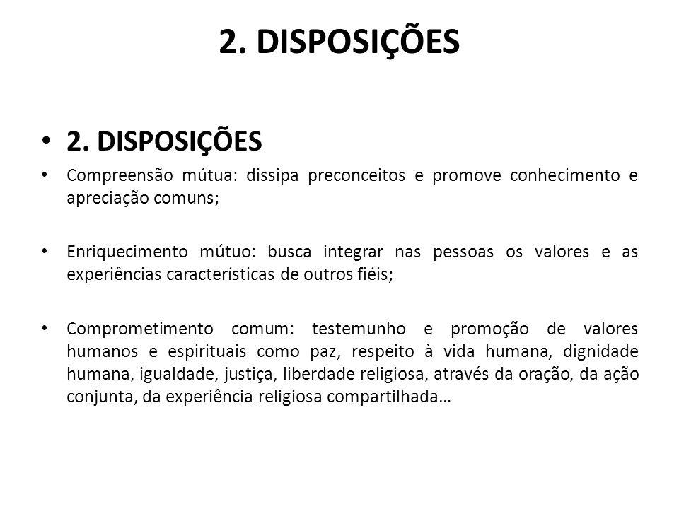 2. DISPOSIÇÕES 2. DISPOSIÇÕES
