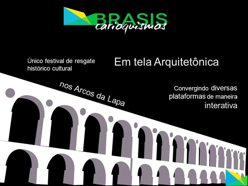 Em tela Arquitetônica nos Arcos da Lapa