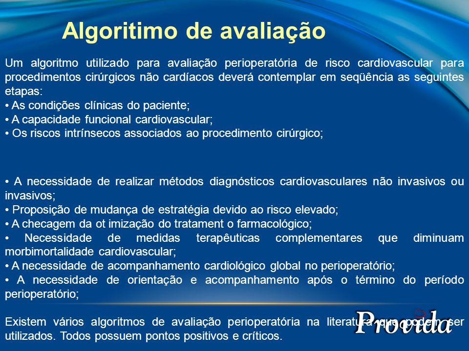 Algoritimo de avaliação