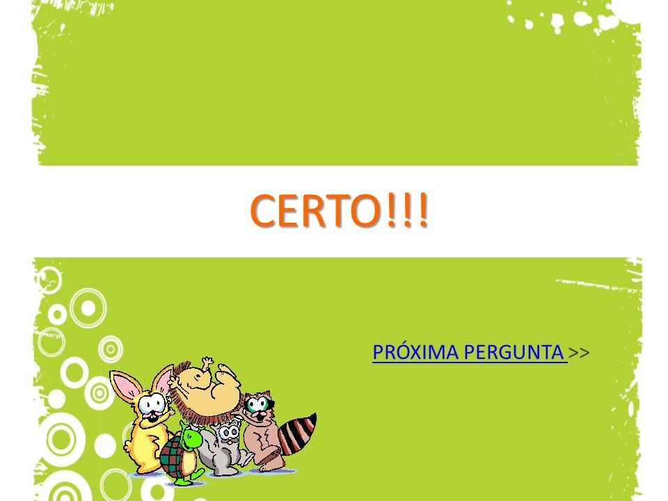 CERTO!!! PRÓXIMA PERGUNTA >>