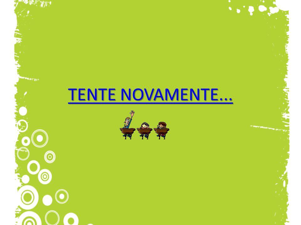 TENTE NOVAMENTE...