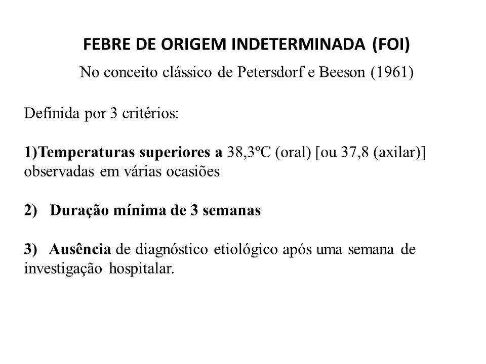 FEBRE DE ORIGEM INDETERMINADA (FOI)