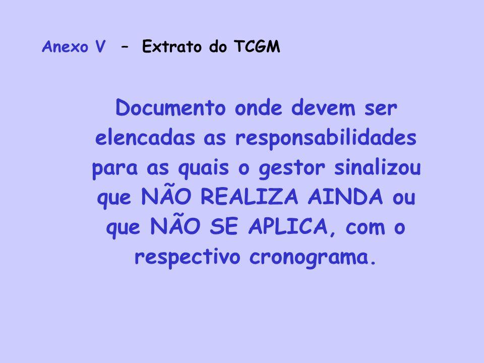 Anexo V – Extrato do TCGM