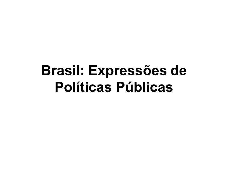 Brasil: Expressões de Políticas Públicas