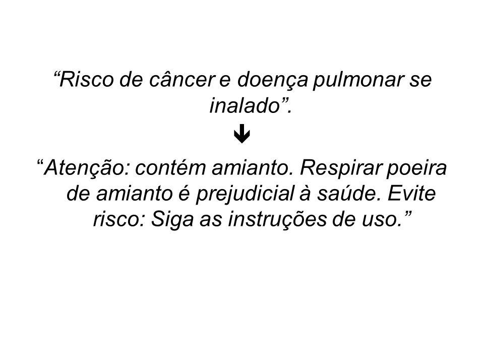 Risco de câncer e doença pulmonar se inalado .