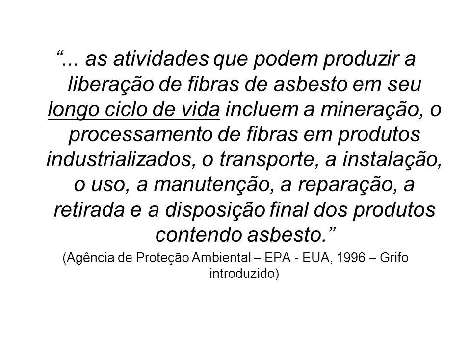 (Agência de Proteção Ambiental – EPA - EUA, 1996 – Grifo introduzido)