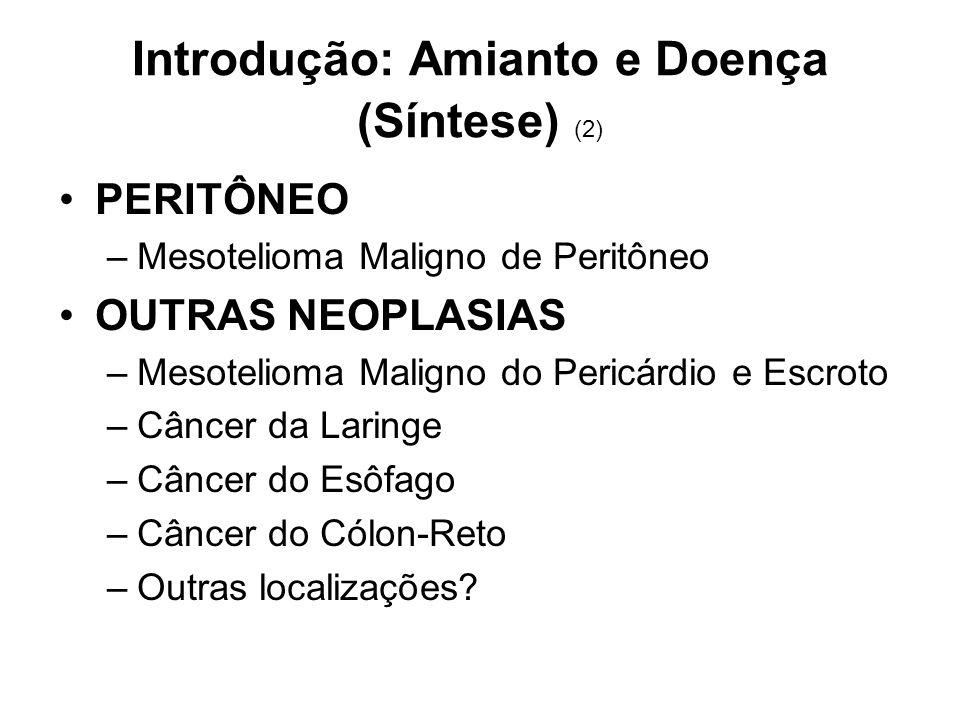 Introdução: Amianto e Doença (Síntese) (2)