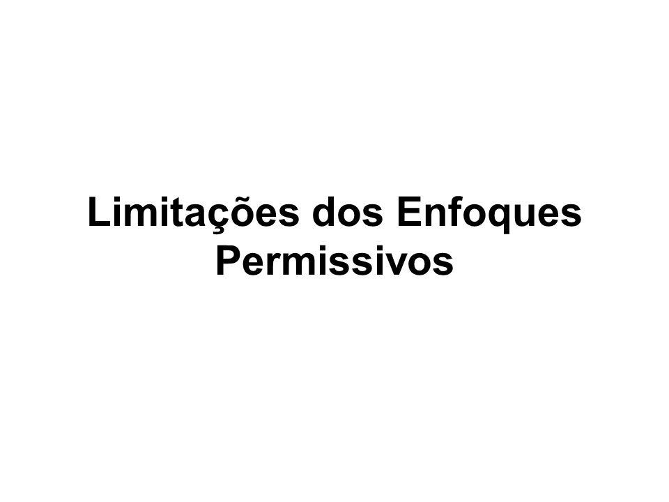 Limitações dos Enfoques Permissivos