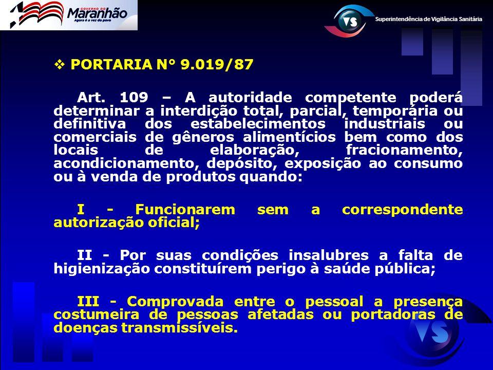 PORTARIA N° 9.019/87
