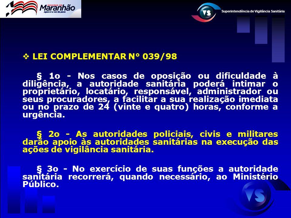 LEI COMPLEMENTAR N° 039/98