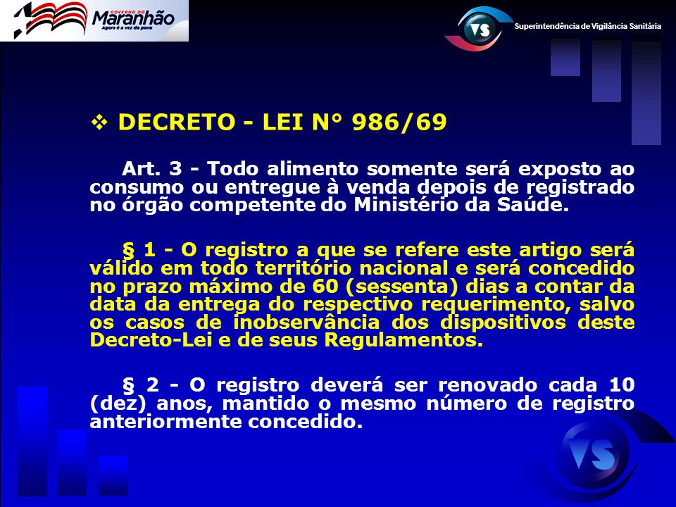 DECRETO - LEI N° 986/69