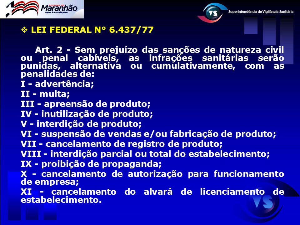 LEI FEDERAL N° 6.437/77