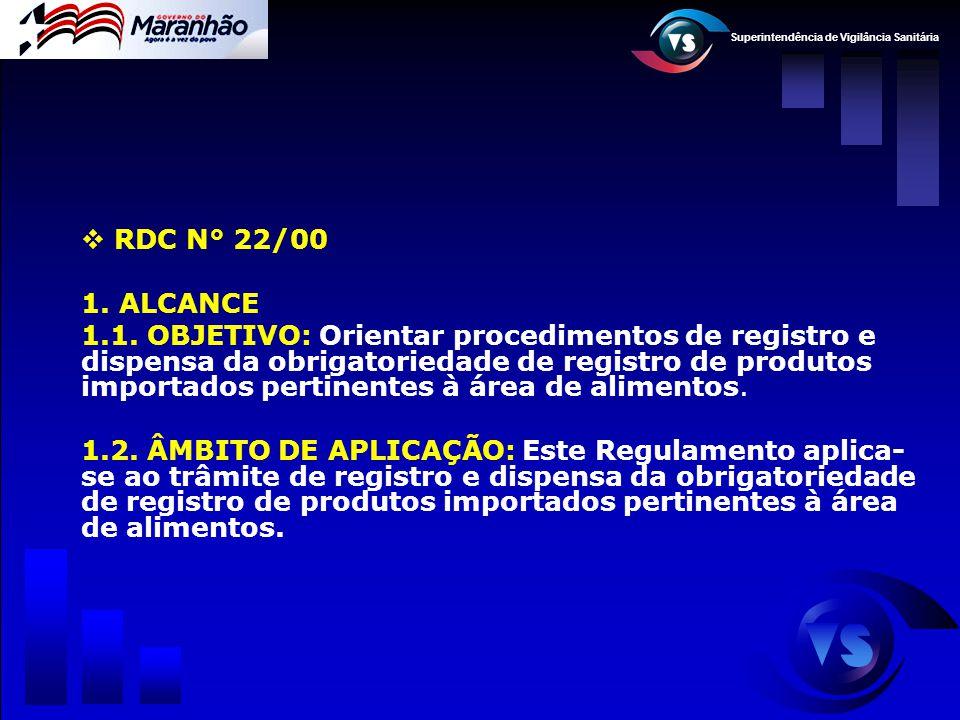 RDC N° 22/00 ALCANCE.