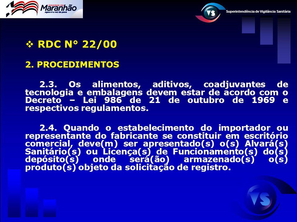 RDC N° 22/00 2. PROCEDIMENTOS.