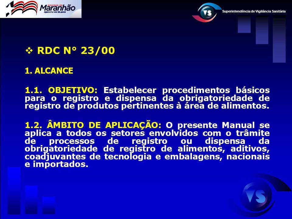 RDC N° 23/00 ALCANCE.