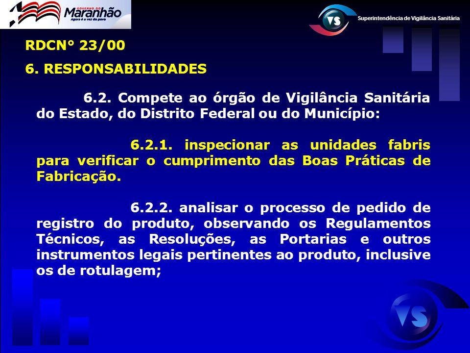 RDCN° 23/00 6. RESPONSABILIDADES