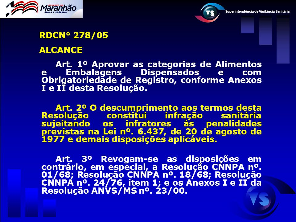 RDCN° 278/05 ALCANCE.