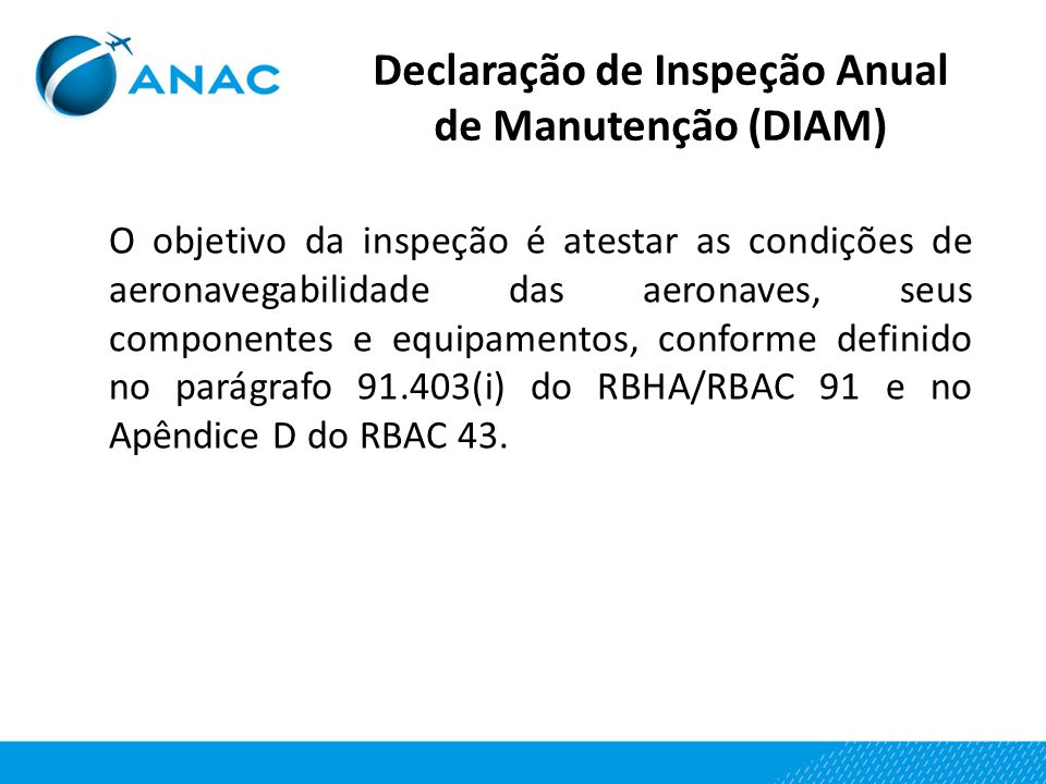 Declaração de Inspeção Anual de Manutenção (DIAM)