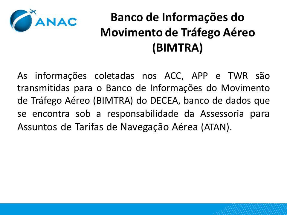 Banco de Informações do Movimento de Tráfego Aéreo (BIMTRA)